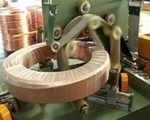 Copper tube coil stretch wrapper machine