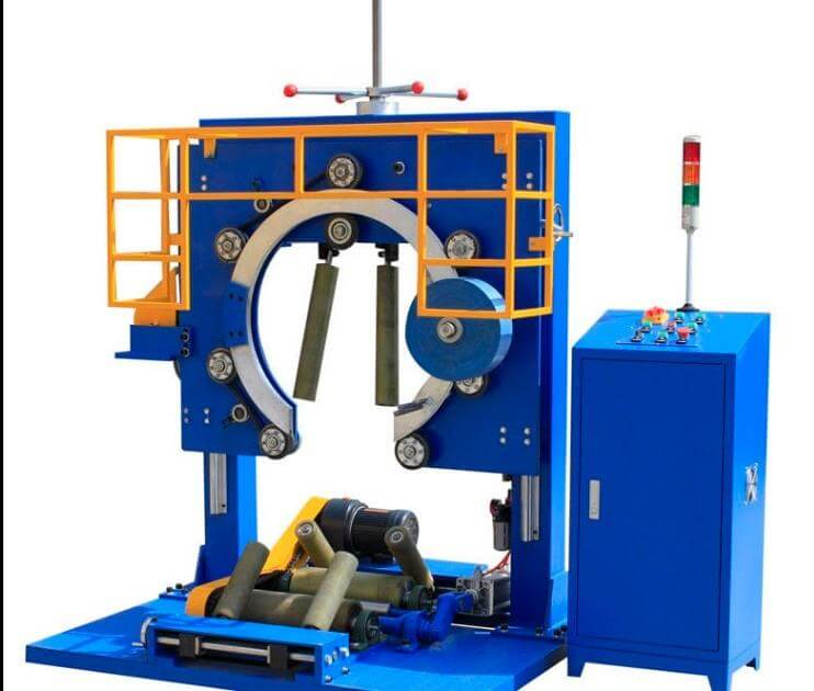 The different coil wrapping machine for packing steel coils and aluminum coils