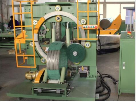 Steel wire and copper wire coiling and wrapping machine
