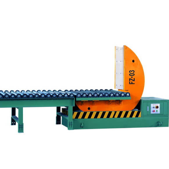 Coil tilter with conveyor automatic turning machine