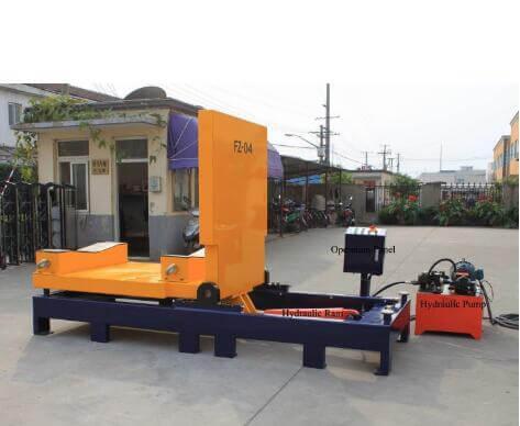 90 degree hydraulic turning machine