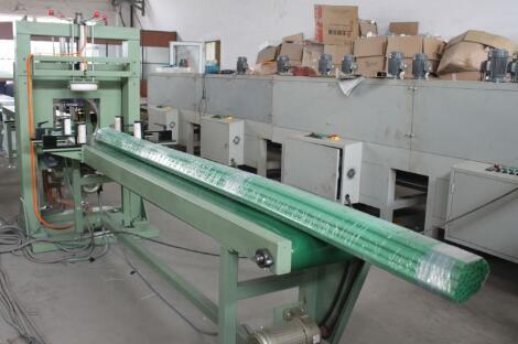 PVC pipe bundle wrapped by machine