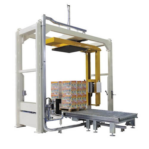 Semi-automatic rotary arm pallet wrapper machine