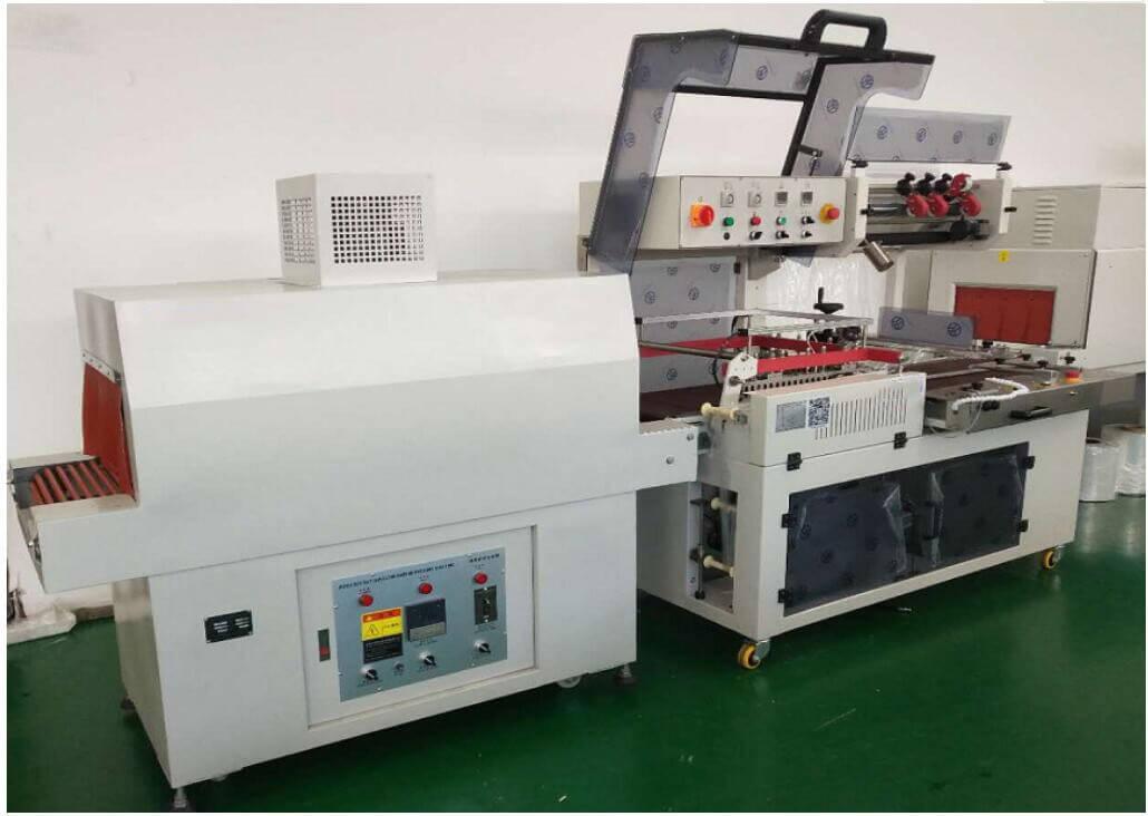 L bar heat sealing shrink wrap packer machine