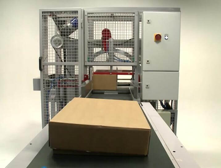 The BOPP tape wrapping machine used to replace PP strapping for carton and case
