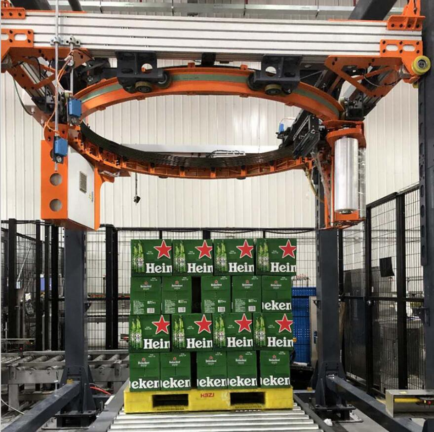 High-speed orbital ring pallet wrapper intelligent wrapping machine