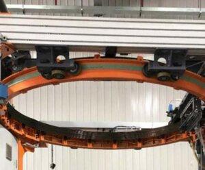 Orbital ring type pallet wrapper