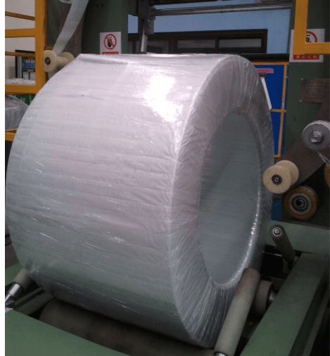 Orbital coil wrapper packaging steel coil and copper coil by wrapping